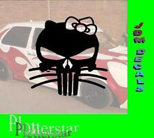 Punisher Kitty hater Sticker Adhesivo, por desgracia, Geil I like gscheid JDM