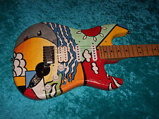 Amazing Fender USA American Standard Stratocaster hand painted guitar vintage de