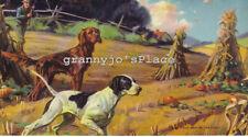 1930's Calendar Art Lithograph,  BEST IN  THE FIELD Print #400 Irish Setter Dogs