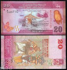 SRI LANKA  20 rupees Rupias 2010  2011 Pick 123 SC / UNC