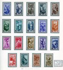 1950 Italia al Lavoro (filigrana Ruota) - 19 valori NUOVI MNH Repubblica S144