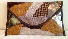 Clutch Bag Large leather Handbag Mutli Piece Color Art NEW Purse envelope NEW