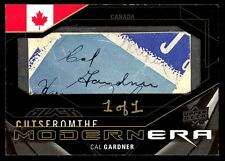 UD BLACK CUTS CAL GARDNER SIGNED AUTOGRAPH rare 1/1 MAPLE LEAFS 1948-1952 bruins