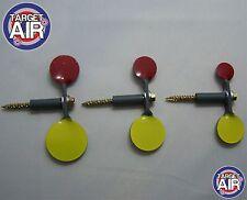 6 METAL SPINNING TARGETS 3 DOUBLE STEEL SPINNERS AIR RIFLE SHOOTING PLINIKING234