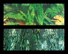 Reptile Vivarium,Terrarium Jungle  Background  Double Sided Large 60cm X 150cm L