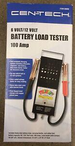 Battery Load Tester 100 Amp Load Type 6V & 12V Mechanics Car Truck NEW