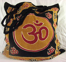 OM Aum Symbol Eco Reusable TOTE Yoga HIPPIE Indian Handbag BAG Purse Shopping