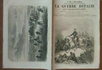 1859 RISORGIMENTO: 'LA GUERRE D'ITALIE' RIVISTA ILLUSTRATA GUERRA IN ITALIA n.16