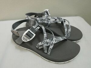 CHACO CLOUD ZX1 8 39 White Gray Geo Hiking Trail Water Sport Sandals Shoes Mint!