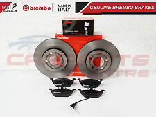 FOR AUDI VW SKODA SEAT FRONT GENUINE BREMBO 256mm VENTED FRONT DISCS PADS SET