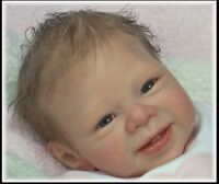 Unpainted Vinyl Reborn Doll Kit Head and 3/4 Limbs For Making Newborn Baby