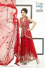 Pakistani Designer Heavy Embroidery semi stitched Suit Party Dress Wedding SALE