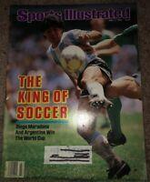 SPORTS ILLUSTRATED JULY 7 1986 DIEGO MARADONNA & ARGENTINA WIN WORLD CUP