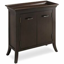 Bowery Hill Tray Edge Hall Chest in Chocolate
