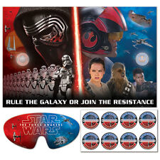 Star Wars The Force Awakens Birthday Party Game  Pin the Sticker Badge Poster~