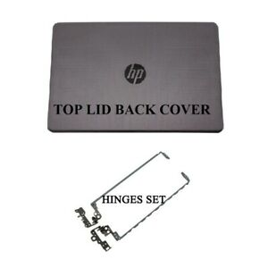 HP 250 G6 255 G6 Model 3168NGW LCD Back Cover Top Lid With Hinges Set Grey