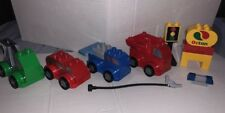 LEGO Duplo cars trucks vehicles and parts lot Stop Light Gas Lights Sirens Sign