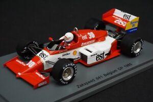 1:43 SPARK S1872 Zakspeed 841 #30 Belgium GP 1985 Christian Danner model car