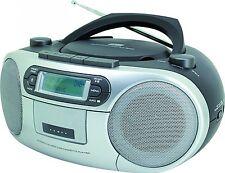 Soundmaster SCD7900 in schwarz, DAB+ /UKW Radio, CD-MP3, USB, Kasette,