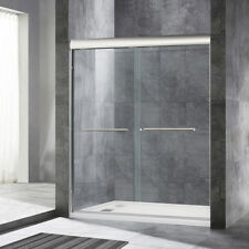 "WoodBridge  Semi Frameless Bypass Sliding Bathtub Door 56"" to 60"" by 72"", BN"