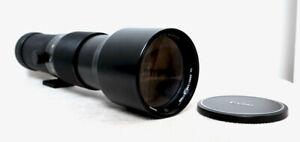 Vintage VIVITAR JAPAN 400mm 5.6 Telephoto Lens for CANON FD SLR fit with caps