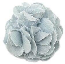 Zest Flower Hair Slide Clip Pale Denim Blue