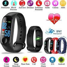Smart Band Watch Bracelet Wristband Fitness Tracker Blood Pressure Heart Rate M3