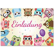 Lustige Einladungskarten Kindergeburtstag Eule Uhu / Einladungen zur Party