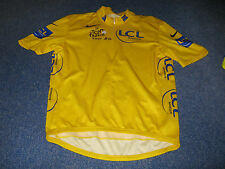 TOUR DE FRANCE 2007 NIKE YELLOW LEADERS CYCLING JERSEY [L adult]