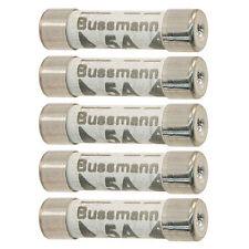 5 x 5 Amp Consumer Unit Fuse Box Lighting Circuit BS1361 Bussmann LA5A C55