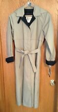 """NEW W/TAGS! """"10 REG. TAN LONDON FOG HOODED TRENCH COAT W/3M THINSULATE LINING"""""""
