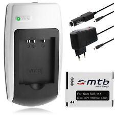 Ladegerät+Akku SLB-11A SLB11A für Samsung WB650, WB1000, WB2000, WB5000, WB5500