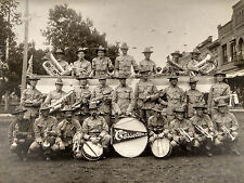 1900s CABINET PHOTO CASSELTON ND MILITARY BAND WELCOME HOME SPAN-AM? VETS?