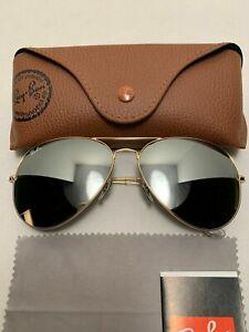 Ray-Ban Aviator Sunglasses RB3026 001/30 62-14mm Gold Frame & Mirrored Lenses