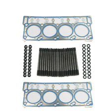 Cylinder Head Stud Kit Head Gaskets 03-06 For ARP 6.0L Ford Powerstroke Diesel