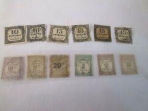 LOT de Timbres France TAXE  1859 -1863 et Timbres  de recouvrement 1908-1937