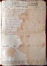 FIRMA REAL, CARLOS II, VALENCIA.Lorenza de Blanes,Vicente Eril y Cardona,1687