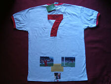 LIVERPOOL ENGLAND KEVIN KEEGAN SIGNED AWAY MATCH SHIRT LARGE - BNWT- PHOTO PROOF