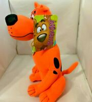 "Scooby-Doo Plush Scooby Fluorescent Neon Orange Color Toy Factory NEW 12"" RARE"