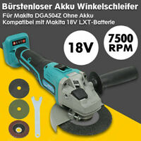 125mm Cordless Brushless  Angle Grinder 18V Cut-off Machine 2 Speed For Makita