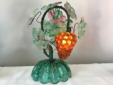 Vintage Art Nouveau Murano Glass Grape Cluster Fruit Figural Lamp
