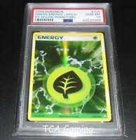 PSA 10 GEM MINT Grass Energy 105/110 Ex Holon Phantoms HOLO RARE Pokemon Card