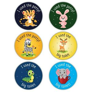 120 Potty Training Reward Stickers Boys Girls Parents Toilet Learning Award 30mm