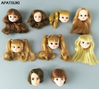 Soft High Quality DIY Doll Heads For Licca Doll Head For Jenny 1/6 BJD Girl Doll