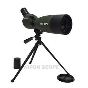 NIPON 25-75x70 spotting scope. Solid metal base structure. DSLR camera adaptable