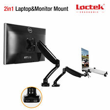 Loctek Gas Spring LCD Arm Desk Mount Computer Monitor Laptop Stand 19 21 22 24""