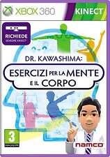 XBOX 360 DR.KAWASHIMA ESERCIZI PER LA MENTE E IL CORPO PAL ITA NUOVO SIGILLATO