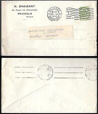 Belgium Brussels Cover to Norway Aalesund 1912