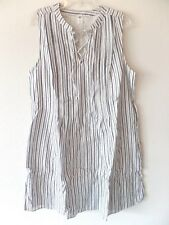 Old Navy Womens LT Large Tall Cotton Rayon Sleeveless Downstripe Dress Lined New