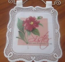INSPIRATION WALL HANGING FROM HERITAGE LACE U.S.A.